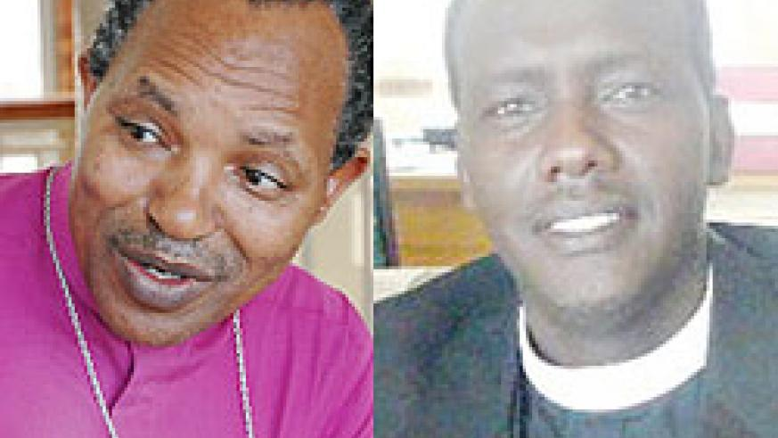 L-R : Archbishop Emmanuel Kolini ; The Archbishop-elect Rev. Louis Muvunyi. (Photo G Ntagingira)
