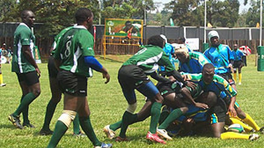 Rwanda's national side 'the Silverbacks' in action during a recent regional event. Buffaloes forms the lion's share of the team. (File photo)