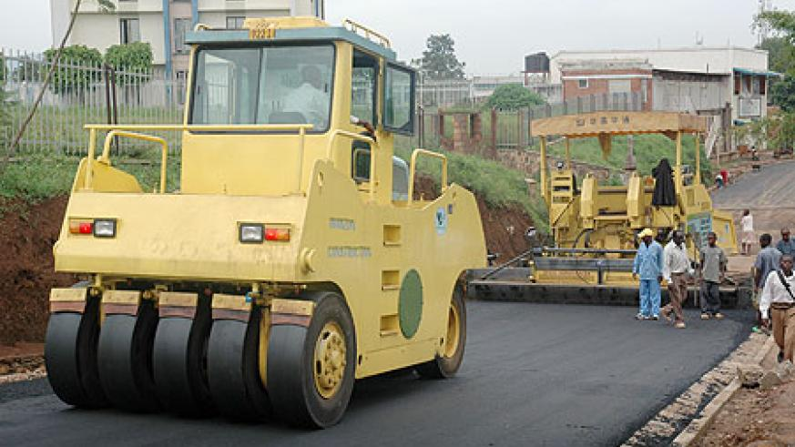 Construction of a road in Kigali City (File Photo)