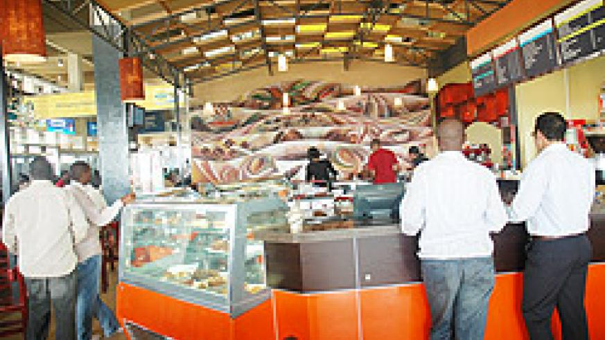 Boubon coffee outlet at Kigali International Airport (File Photo)