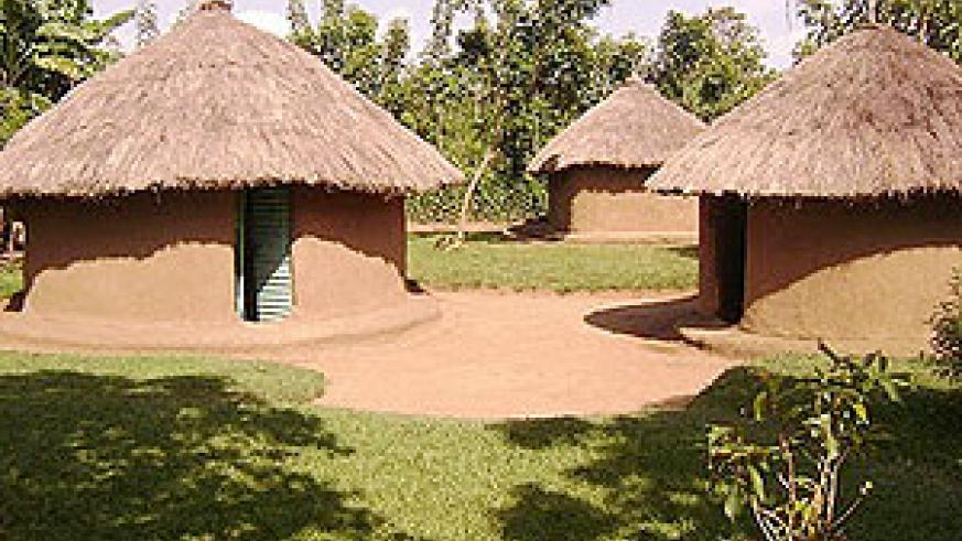Grass thatched houses in Rwanda will be replaced permanent houses, with iron sheet roofing