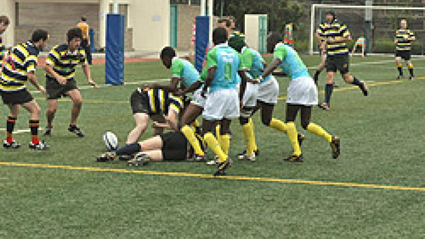 Rwanda's Silvervacks (R) in action during the Hong Kong 10s. Rwanda hopes to become an associate member of the IRB (File photo)