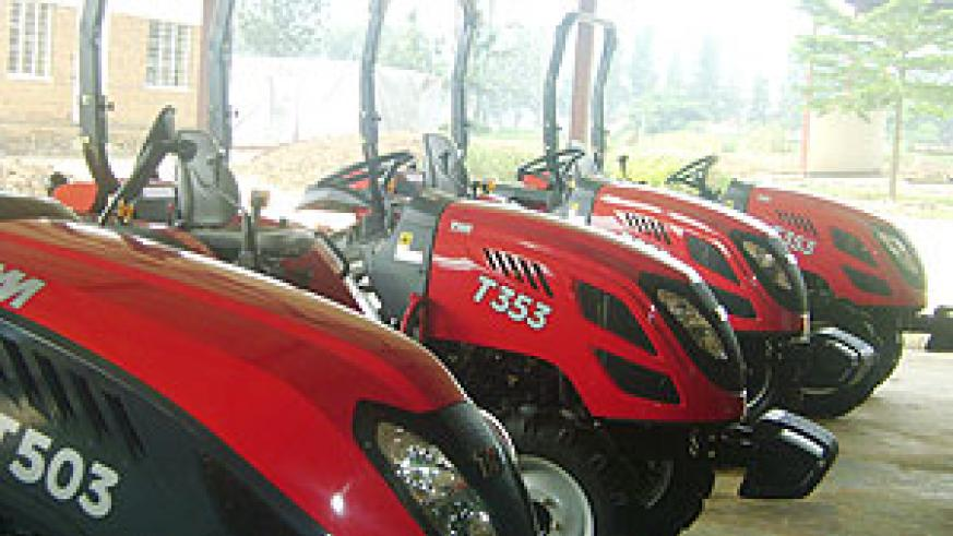 The new tractors that are now available to farmers (Photo by K. Odoobo)