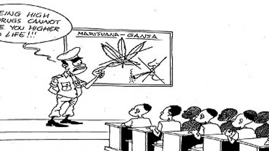 Police has taken the anti-drugs campaign to schools.