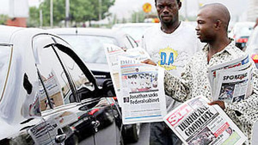 Newspaper venders. Improving quality shall increase sales. (Net photo)
