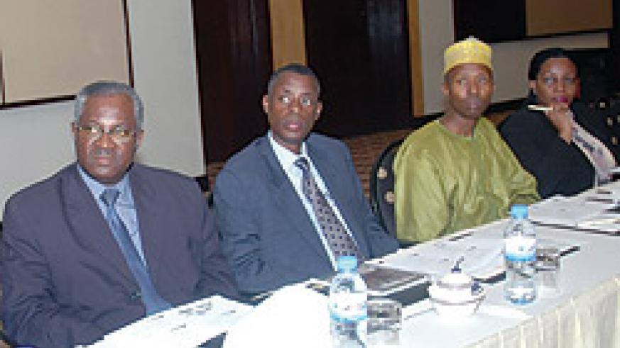 ATTENTIVE; Ministers participate in the sensitization workshop on EAC Customs Union yesterday ( Photo  by Goodman).