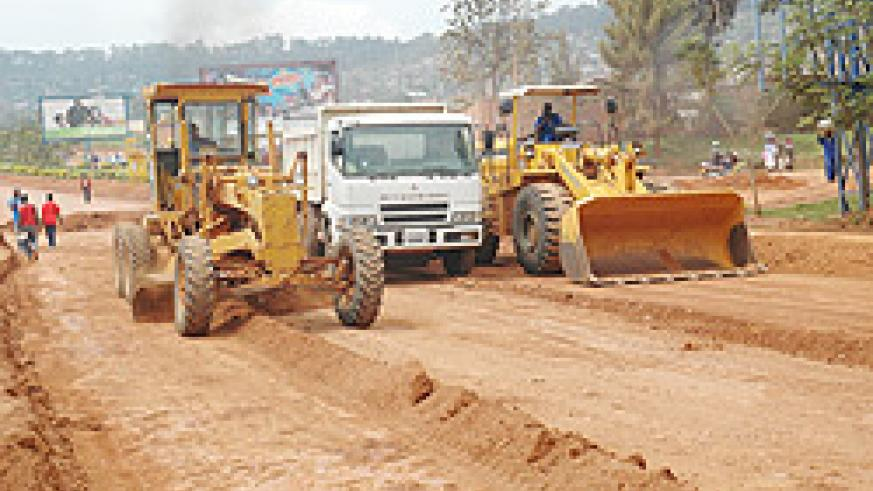 Kigali City yesterday launched another project to revamp the road network in the City (File Photo)