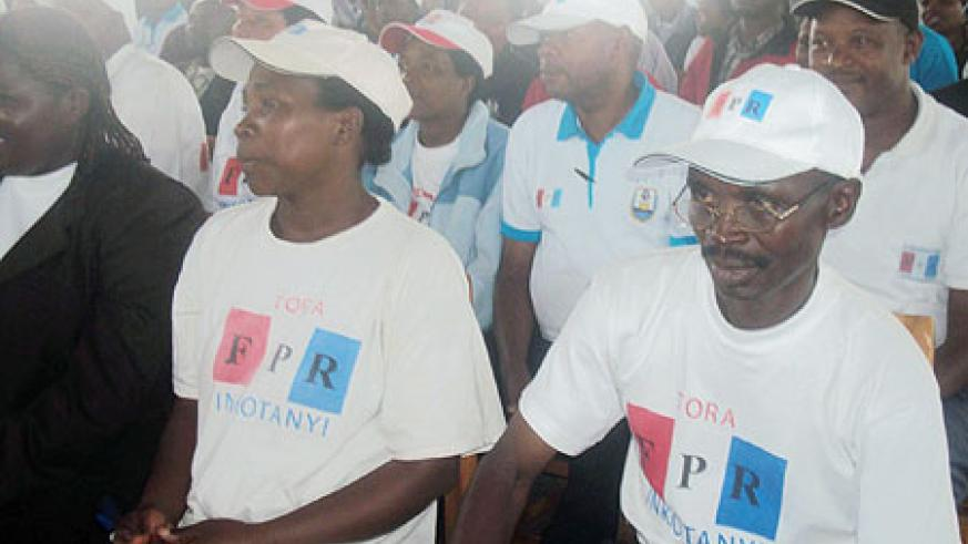 RPF party members during the voting exercise in Musanze. (Photo: B. Mukombozi)