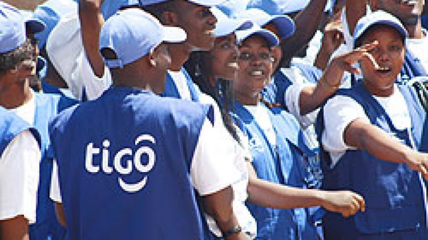 Tigo employees during the company's launch late last year (File Photo)