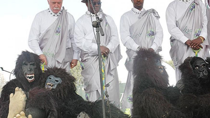 Officials attending last year's Gorilla Naming Ceremony. A couple of baby gorillas will next month miss the naming after they succumbed to bitter weather in their habitat (File Photo)