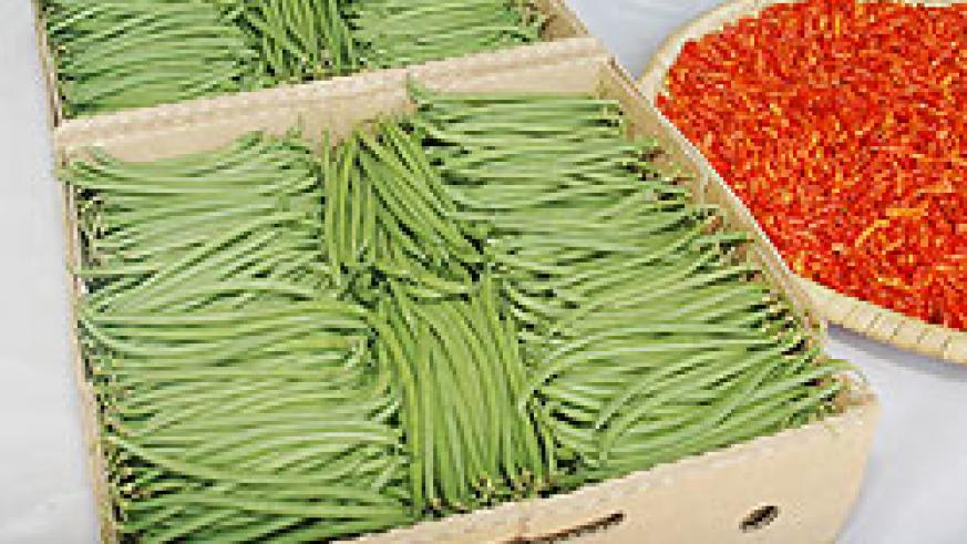 French beans and red pepper: The recent drop in vegetable prices has helped to ease inflation. (File photo)