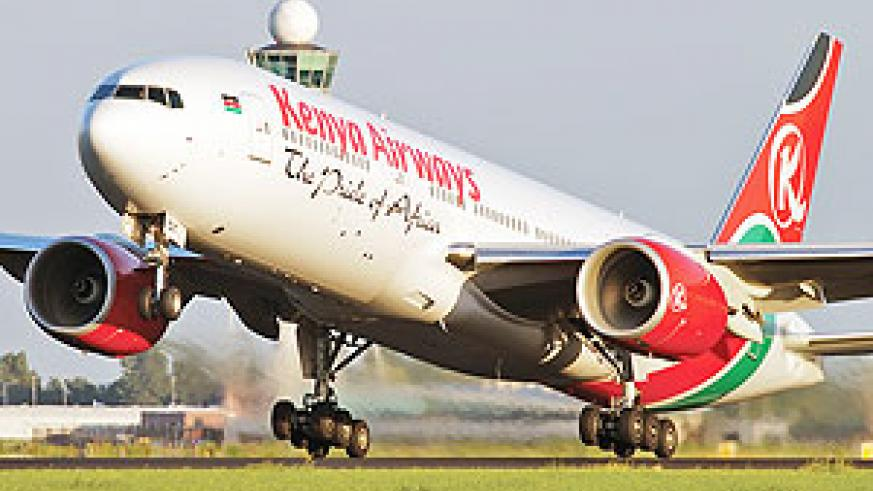 KQ Airline taking off. (File Photo)