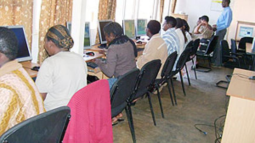 The  IT course will improve business skills among the  Women. (Photo: A. Gahene)