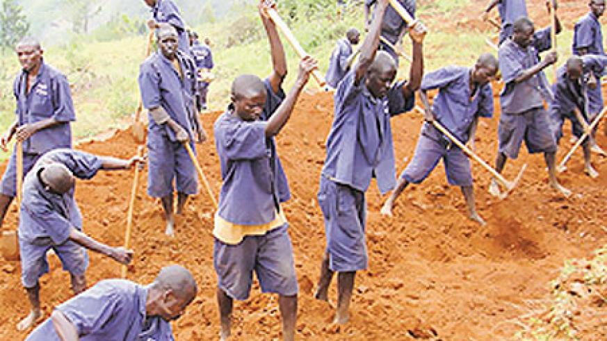 Convicts under TIG programme doing community activities. Districts have called for more funding of TIG Secerariat (File Photo)