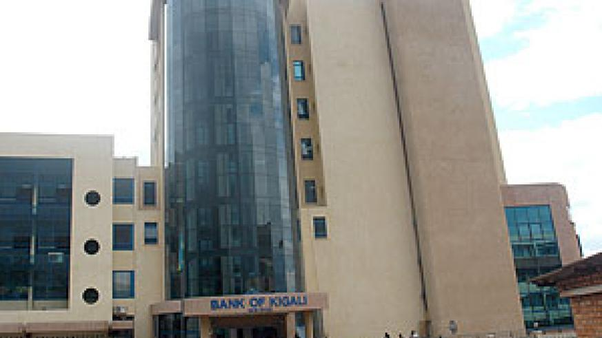 Bank of Kigali is one of the financial instituitions that will benefit through a line credit (file photo)