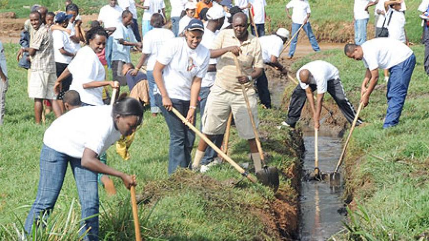 Umuganda is a nationwide  community work programme (File photo)