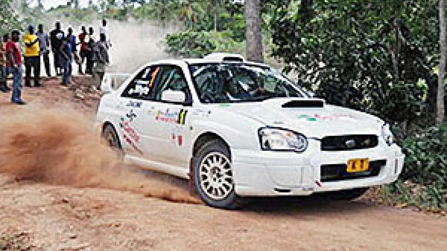 Whyte paces his Machine during the KCB Safari rally.