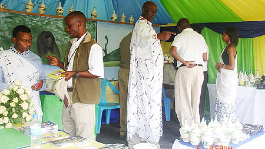 The Rwandan stand at the Karibu Tourism Fair which ended yesterday at the Magereza grounds in Arusha, Tanzania (Courtsey Photo)