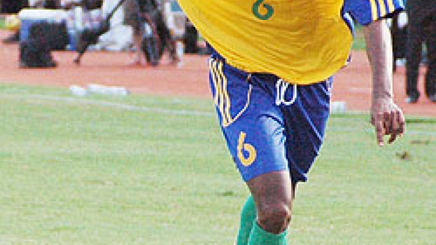 Amavubi's left winger Jean Claude Iranzi was a handful for the Tanzanians yesterday. Amavubi won 1-0 to qualify for the second CHAN edition. (File Photo)