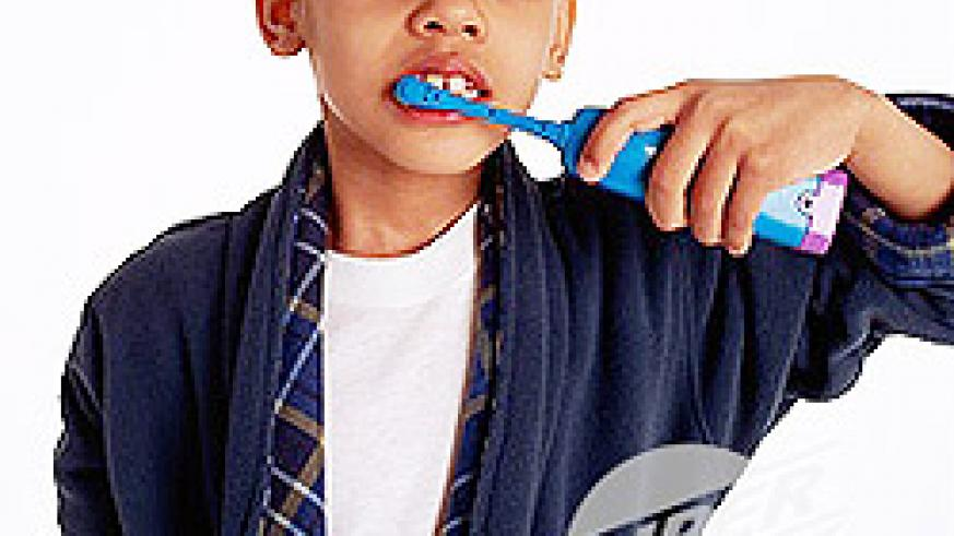 Brushing teeth regularly keeps them healthy