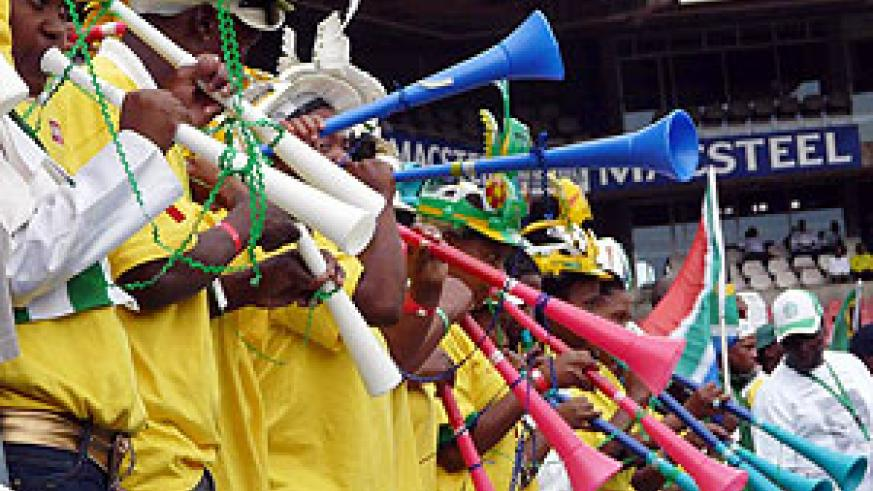 The sound of the continent. The South African Vuvuzela