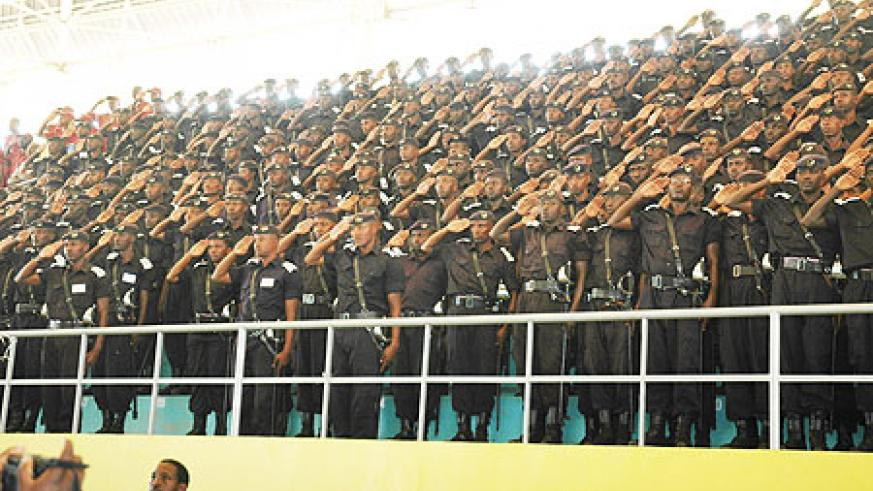 The National Police will be marking 10 years of existence today (Photo; F. Goodman)
