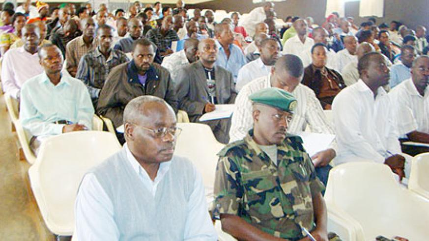 Members of PSF and other guests attending a meeting at the district last week. (Photo: A. Gahene)