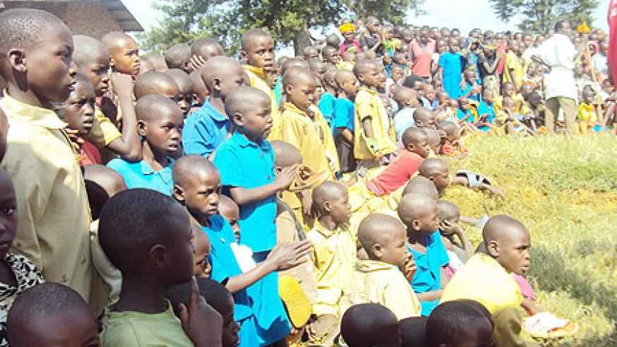 Hundreds of Children attended the African Child day cerebrations in Karongi district on thursday. (Photo: S. Nkurunziza)