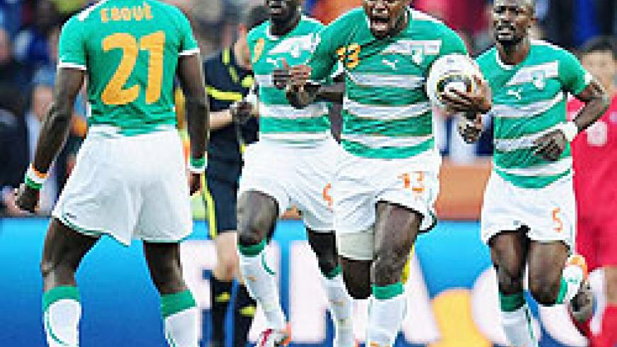 Sven-Goran Eriksoon's charges double their lead on 20 minutes when Romaric heads home after Drogba's thundreous shot