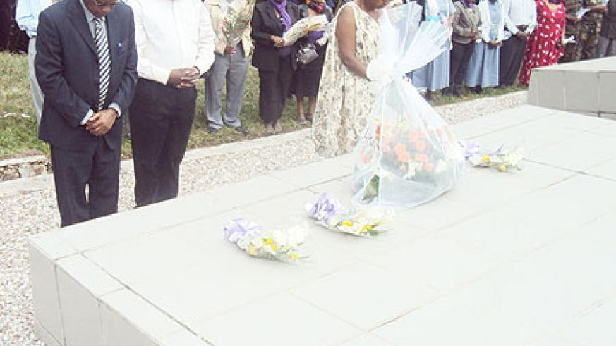MPs pay tribute to victims of the 1994 Genocide against the Tutsi in Bisesero on Sunday. (Photo: S. Nkurunziza)