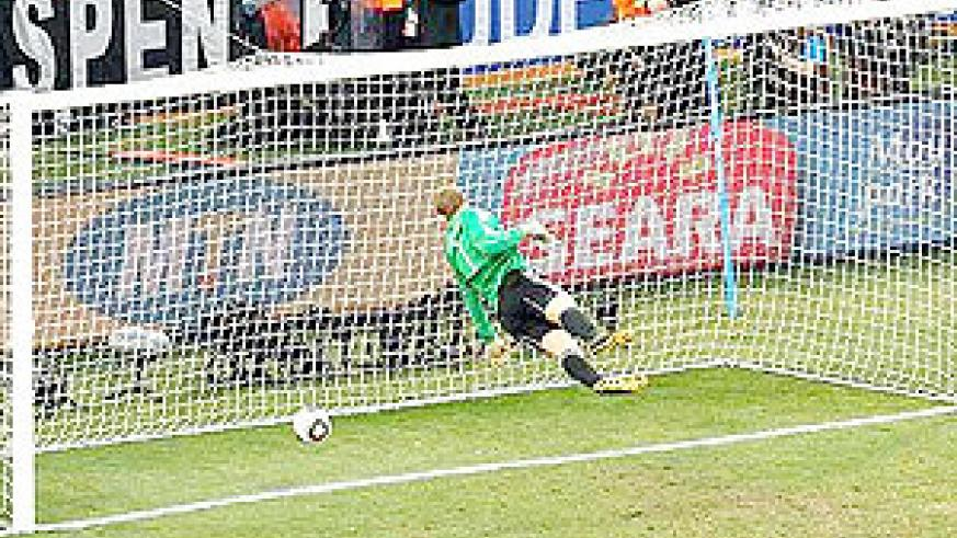 The disallowed England goal. Goaline technology is needed now.
