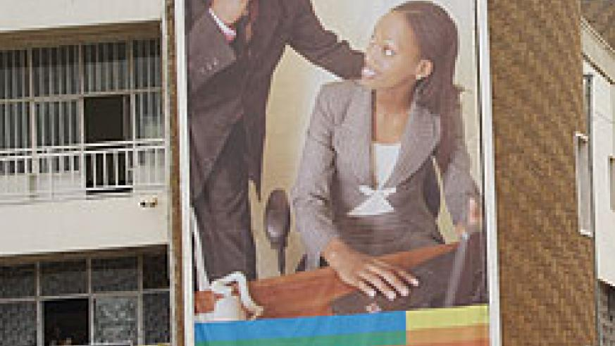A Rwandatel billboard mounted after the company had launched it GSM operations (File Photo)