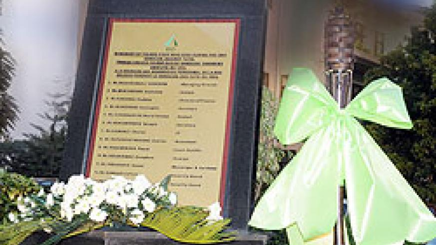 BRD Monument to kep the memory of fallen staff alive