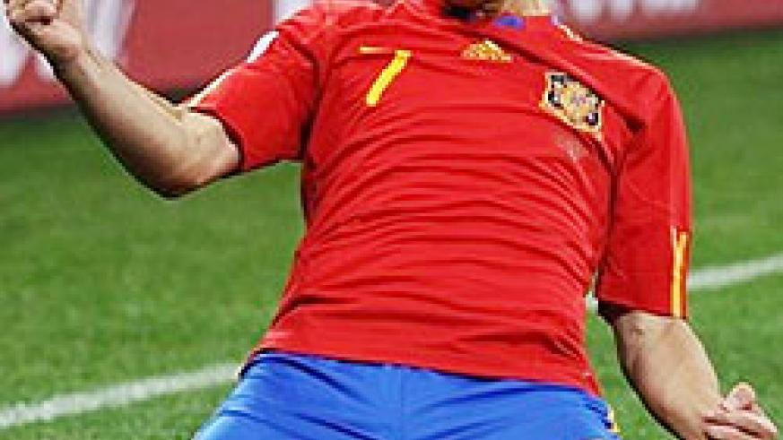 David Villa scored his fourth goal of the tournament to spur Spain to a 1-0 win over Portugal in the final match of the last-16 round.
