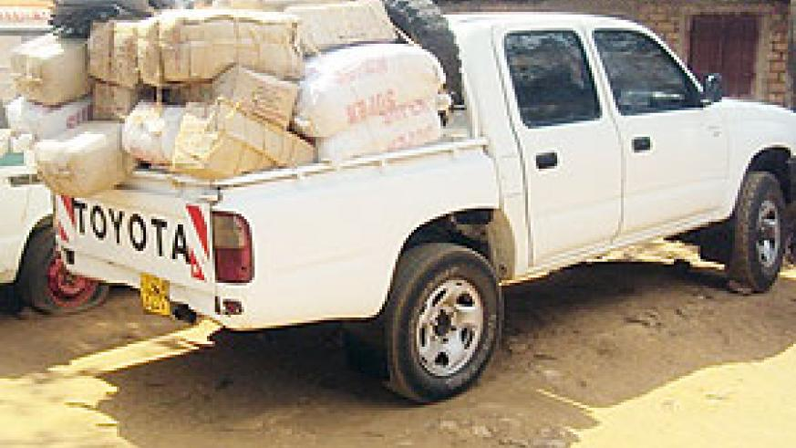 The impounded vehicle with illicit alcohol. (Photo: D. Ngabonziza)