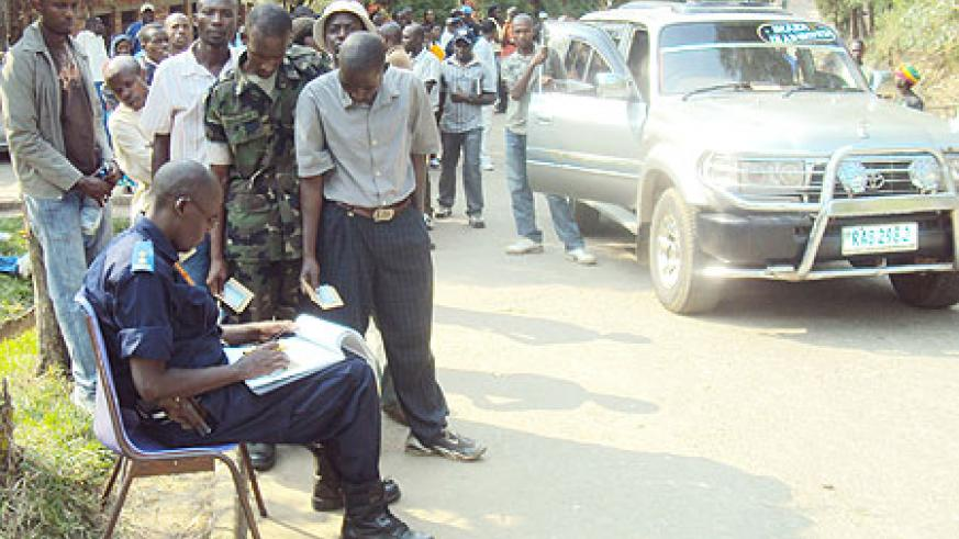 Hundreds turned up for driving license tests and most of them passed. (Photo: S. Nkurunziza)