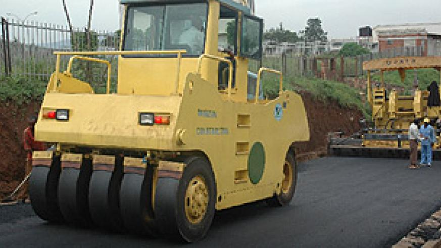 One of Kigali's roads nears completion