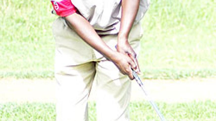 Joseph Semwaga shot eight birdies over two days to win this year's Captains Cup at Kigali Golf Club. (File Photo)
