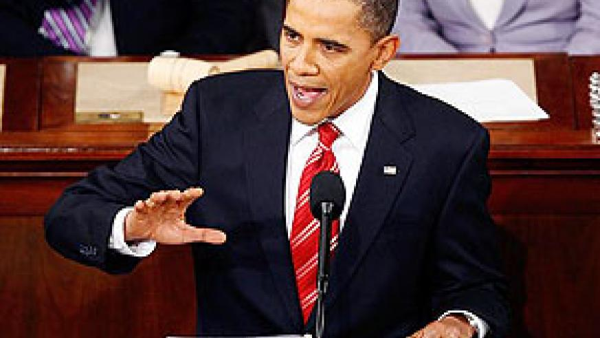 President Barack Obama during one of his speeches.