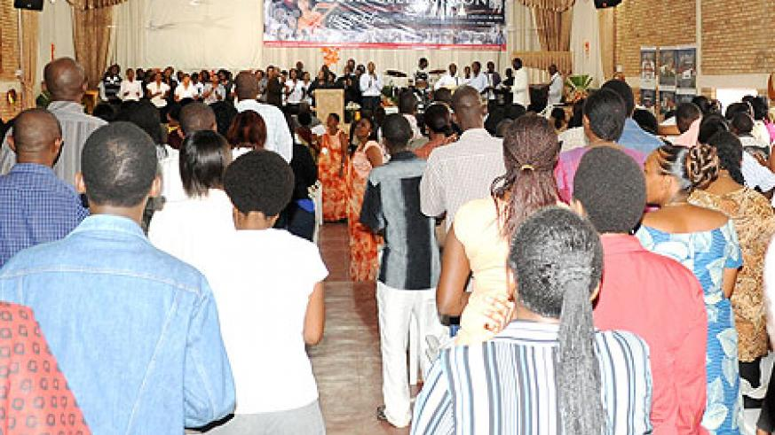 The Evangelical Restoration Church faithful during the celebrations on Sunday (Photo; F. Goodman)