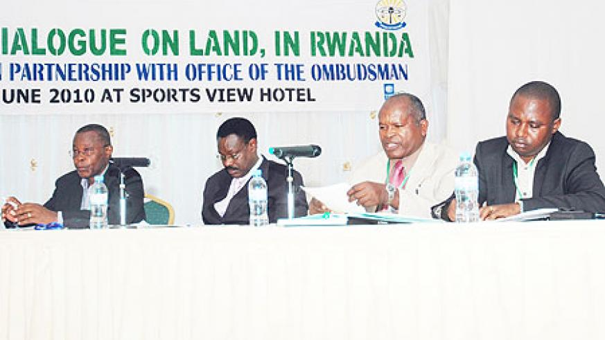 Delegates attending the national land dialogue (Photo; F. Goodman)