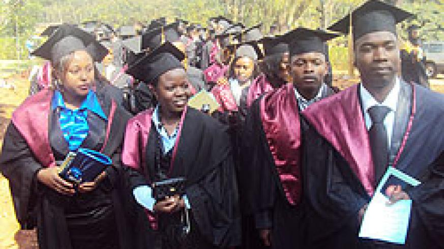 First INATEK graduates. (Photo: S. Rwembeho)
