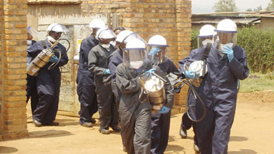 Indoor residual spraying has reduced Malaria infection. (Photo: HCC/MINISANTE)