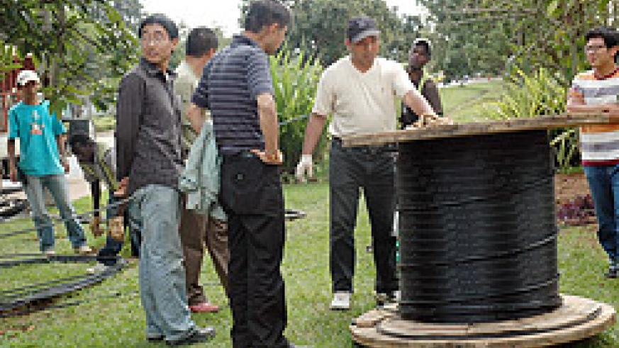 Fibre optic cables are being laid across the country (File photo)