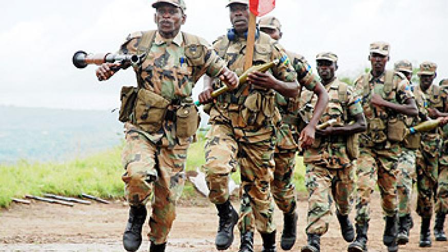 The Peoples' army. RDF troops in action.