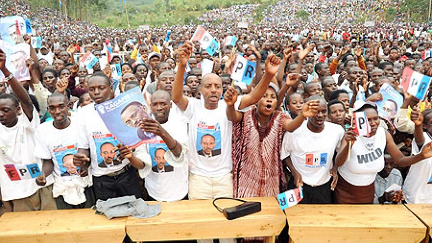 Thousands of RPF supporters turned up for the rally in Gakenke District. (Photo J Mbanda)