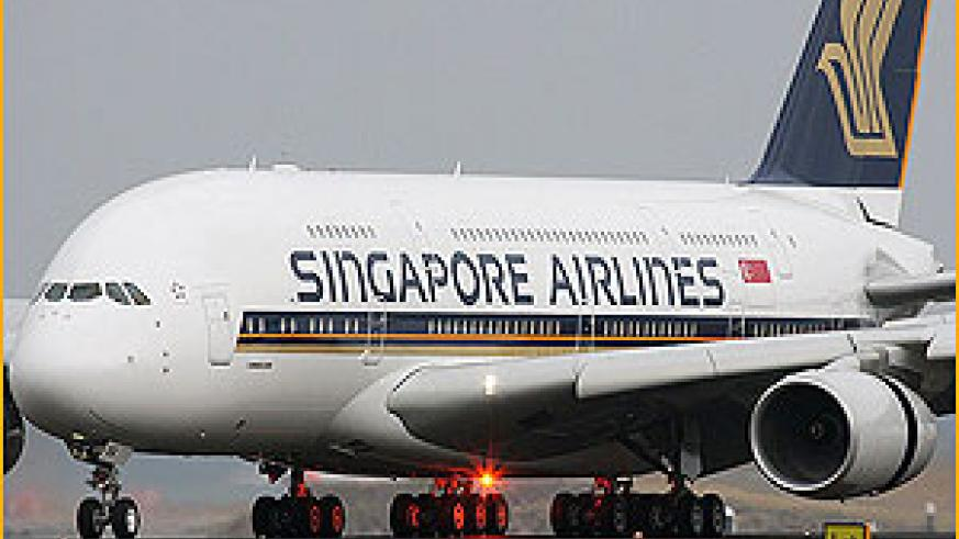 Coming to Rwanda? A Singapore Airlines craft