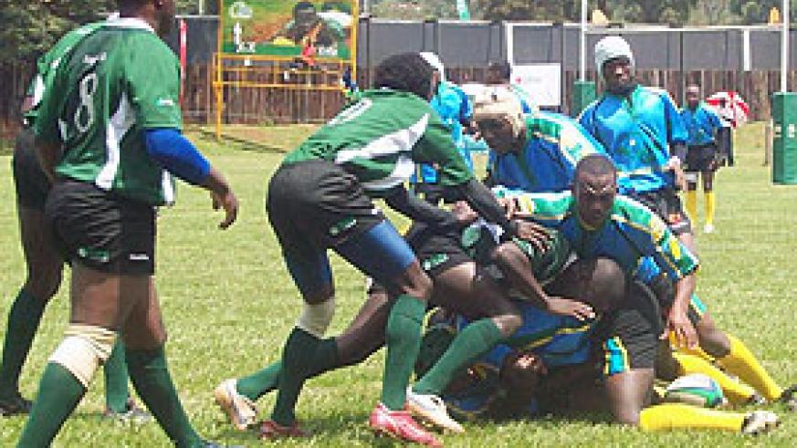 Rwanda's national side 'the Silverbacks' in action during a recent regional event. Buffaloes forms the lion's share of the team.