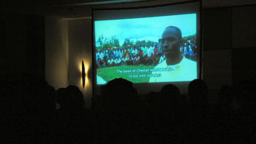 An excerpt from Thierry Michael's film 'Katanga Business' that showed on the opening night of the Rwanda Film Festival