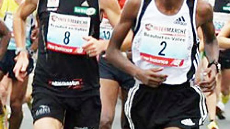Hakizimana wearing (shirt 2) is one of the athletes who will miss the Africa Athletics Championship.(File Photo)